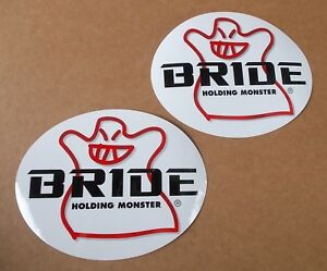 x2 BRIDE SEAT HOLDING MONSTER sticker / decal W155mm x H120mm genuine new!!