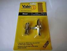 2 x YALE KEYED ALIKE OPERATED DOOR BOLTs CYLINDER 8K117 BRASS FINISH - NEW