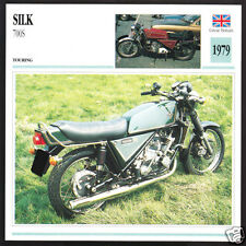 1979 Silk 700S (656cc) British Motorcycle Photo Spec Sheet Info Stat Card