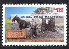 USA 1996 Free Rural Delivery/Post/Mail/Horse/Wagon/Transport/Animals 1v (n39901)
