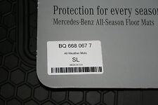 2003 to 2012 Mercedes SL Class (R230) Rubber Floor Mats - FACTORY OEM - BLACK