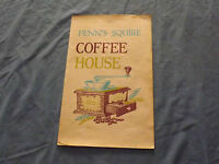 VINTAGE 1968 PENN'S SQUIRE COFFEE HOUSE  PENNSYLVANIA    MENU