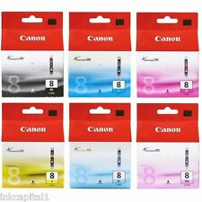 6 x Canon Original OEM Pixma (PGI-5PK & CLI-8) Inkjet Cartridges For iP6600D