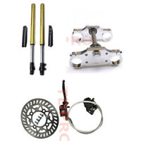 45/48 Front Forks Assembly Triple Tree Clamp Disc Rotor for Dirt Pit Bike Pitpro
