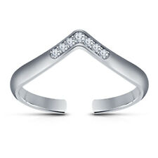 Round Cut Diamond Adjutable Toe Ring Solitaire Tiara Foot Jewelry White Gold Fn