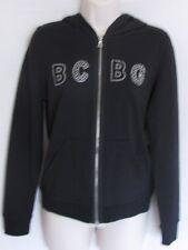 BCBG MAXAZRIA Black Hoodie Zipper Jacket with Rhinestone M NWT Woman (MSRP $160)
