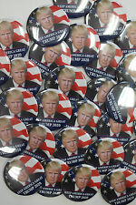 NEW! Huge Trump 2020 Buttons Keep America Great TRUMP 2020 Lot Of 50