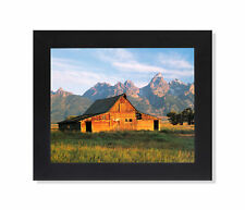 Historic Old Wood Barn in Grand Tetons Photo Wall Picture Black Framed