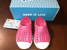 Native Shoes Infant Girl Jefferson Hollywood Pink Shell White Size C4 New