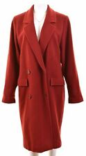 MISSONI Womens Double Breasted Coat UK 16 Large Red Oversized LN10