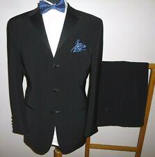 Mens Hugo James Tuxedo Suit Black 40 R Dinner Evening Jacket Trousers W 36 L 29