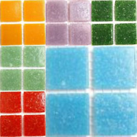 Vitreous Mosaic Tiles 20mm (75 tiles - Part Sheets) - Various Colours
