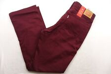 New Levi's Womens 505 Red Maroon Mid Rise Straight Stretch Denim Jeans 32 x 32