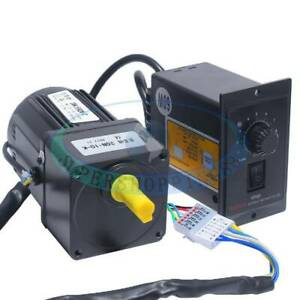 Electric Motor Variable Speed Controller 15W AC220V Gear Motor 1:10 125RPM NEW
