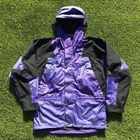 90s Vintage THE NORTH FACE Mountain Light Mens Jacket Medium Purple | Coat |