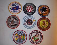 LOT OF 8 VINTAGE 4 INCH BOY SCOUT PATCHES (lot 25)