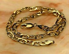 """14K SOLID YELLOW GOLD CHAIN 9.5"""" ANKLE BRACELET 6.2 G ITALY GORGEOUS"""