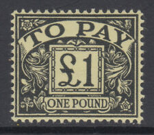D68 1959-63 £1 Black on Yellow Wmk Multiple Crowns Postage Due V.Lightly Mounted