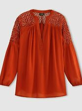 Brand New Vila Vijannie Blouse with Lace Shoulders Size M