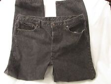 "Mens ""Levi's"" Size W42 X L32, Black 501, Button Fly, Straight Leg Jeans"