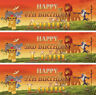 2 x personalised birthday banner Lion King Lion Guard children kids party