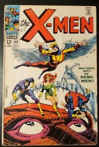 X-MEN #49 1963 SERIES   1ST APP LORNA DANE (POLARIS) & MESMERO   STERANKO   MCU