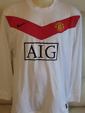 Manchester United 2009/10 - White Shirt - XXL - Evans 22 on back - Training/GK?