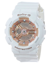 Casio G-Shock Baby-G BA110-7A1CR White Rose Analog Digital Watch New Authentic