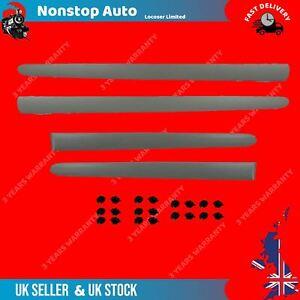 4X DOOR MOULDING PANEL TRIM STRAP PAINTABLE FRONT & REAR FITS PEUGEOT 206 8545Y7