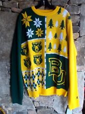 BAYLOR BEARS COLOR BLOCK SWEATER XL NCAA LICENSED CREW NECK LSLV NWT