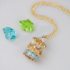 Girls Lady Enamel Rhinestone Carousel Necklace Pendant Fashion Jewellery Gifts