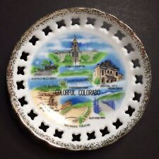 Vintage Colorful Colorado Decorative Collectible Souvenir Plate 4 5/8""
