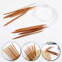 Circular Knitting Needle Crochet Hooks Bamboo Circular Sewing Needles 2.0mm-10mm