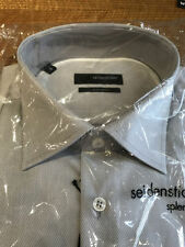 Business-Regular Collar Long Textured Formal Shirts for Men