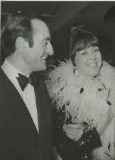 Pierre Etaix et Annie Fratellini au Festival de Cannes Vintage silver Print Ti