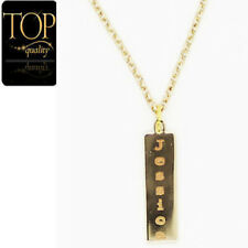 Personalized Engraved Name Necklace Women's Jewelry Gold Plated Bar Gift USA