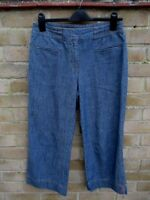 Next Blue Denim Cropped Jeans Size 12 R