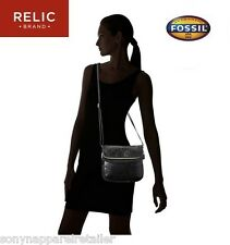 New Relic Cora EW Crossbody Expandable Messenger Bag by Fossil - Coffee Black