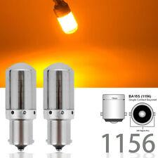 Backup Reverse Tail Light 1156 BA15S 7506 3497 P21W 144 Amber LED Chrome M1 MA