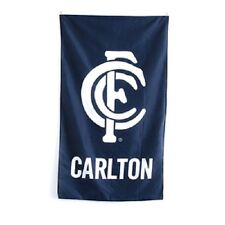 Carlton Blues AFL Supporters Cape Wall Flag 90 by 150cm! Officially Licensed!