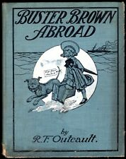 BUSTER BROWN ABROAD R.F. Outcault 1904 Hardcover Book Fredrick A. Stokes 67 pgs