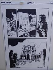 RICHARD CORBEN original art, HELLBOY DOUBLE FEATURE pg 9, Signed, 11x17, Mignola