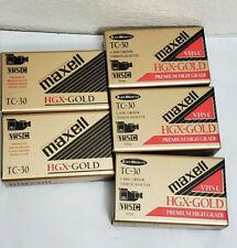 Lot Maxell Vhs-C Tc-30 Camcorder Hgx-Gold Video Cassette Tape Premium High Grade