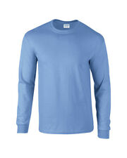 Adult Gildan Long Sleeve Ultra Cotton t-shirt-Mens Tops s m l xl 2xl