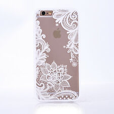 Ultra-thin Lace Mandala Hybrid Clear Hard Back Case Cover For iPhone 8 7 6s Plus