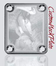 Chrome Engraved Cowgirl OG Guitar Neck Plate  fits Fender tele/strat/squier