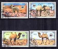 Animali Cammelli Mongolia (36) completa 4 francobolli timbrati