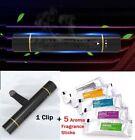 Car Air Vent Clip Freshener - Perfume Diffuser + 5 Aroma Fragrance Sticks -black
