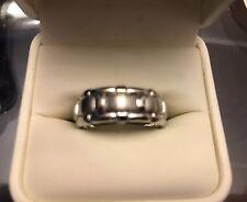 SCOTT KAY GOTHIC MENS PLATINUM WEDDING BAND RING *MUST LOOK* $6K retail