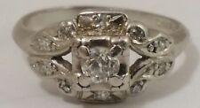 Antique Diamond Platinum Ring, finger size 4.5